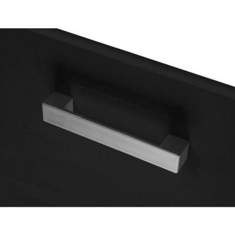 start meuble bas de cuisine l 40 cm avec plan de travail inclus noir brillant