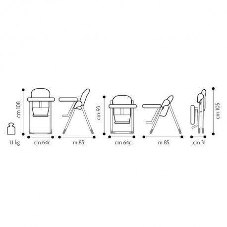 brevi chaise b fun 2 en 1 transat et chaise reglable en hauteur couleur bambou