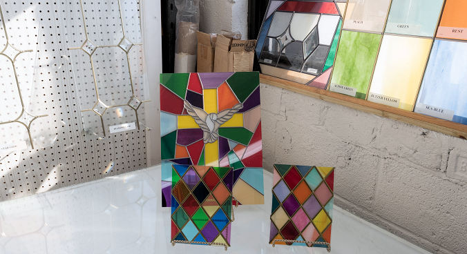 used kitchen cabinets nj french country table stained glass studio - decorative and ...