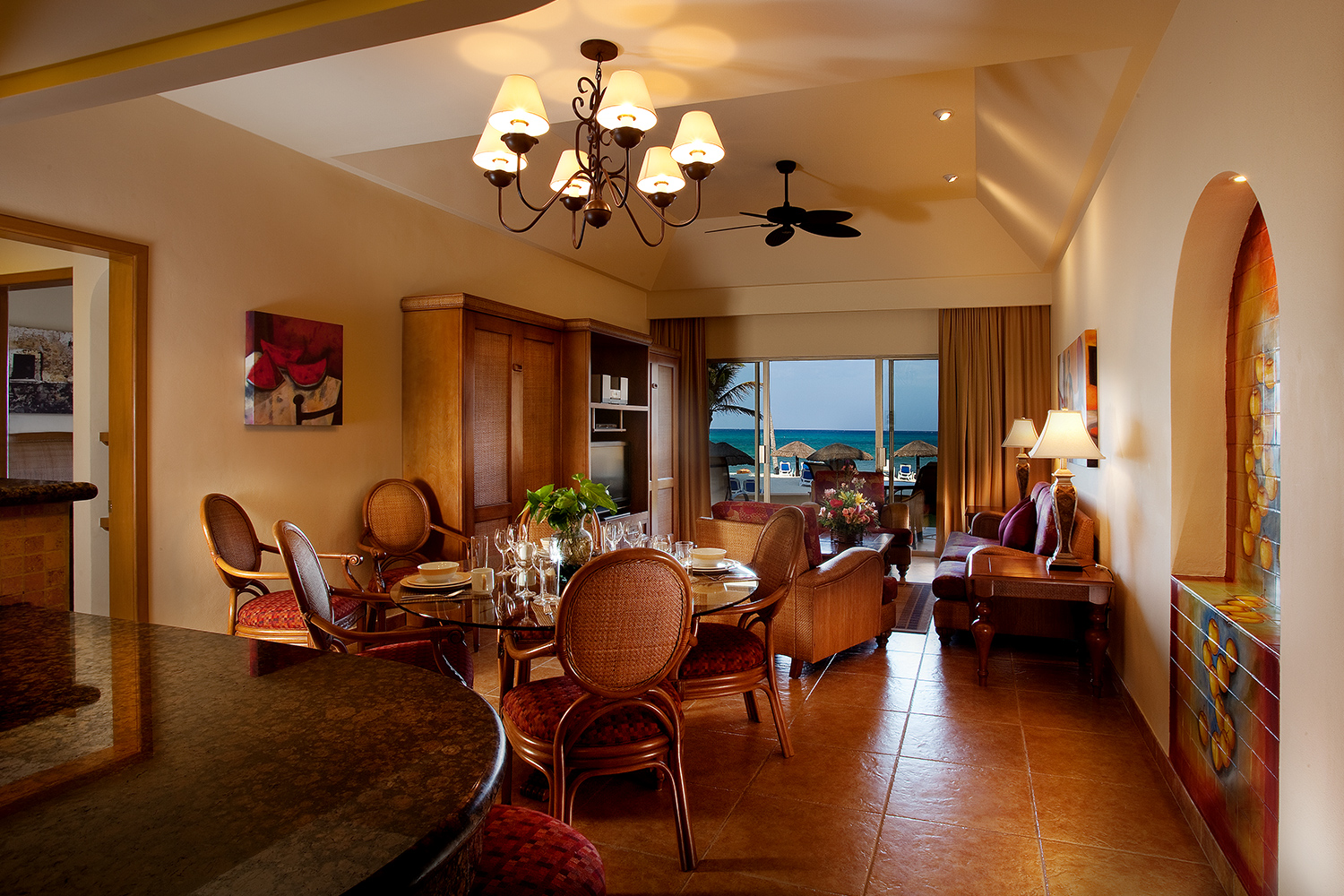 Spacious suite type rooms at Royal Resorts, perfect for big families