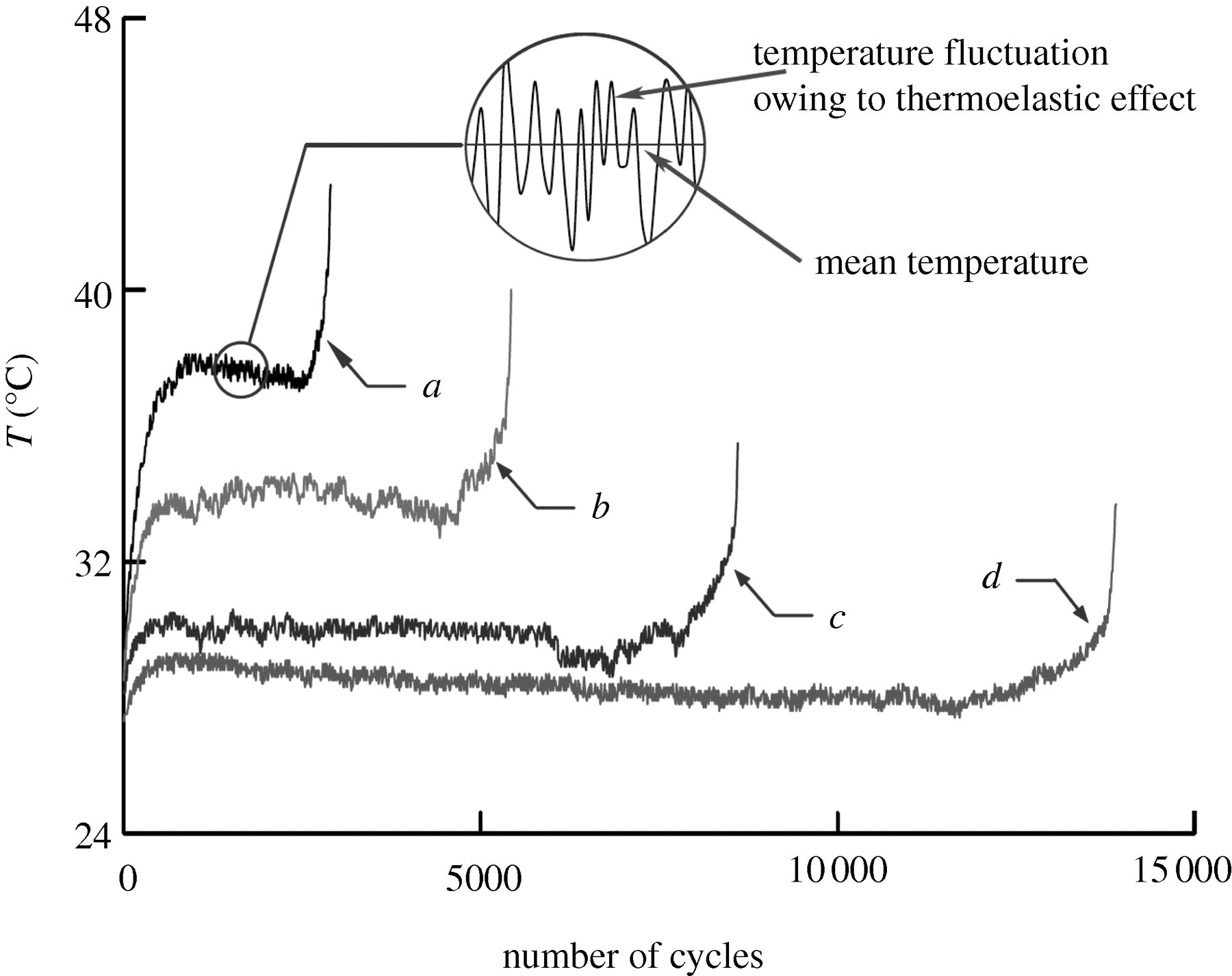 On the thermodynamic entropy of fatigue fracture