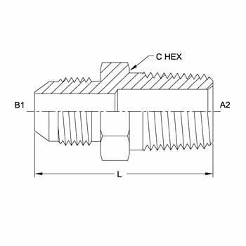 Hydraulic Fittings Male JIC Male Pipe Straight