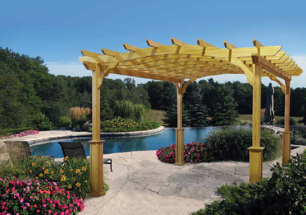 bull outdoor kitchen bins 12' x 14' poolside pergola kit | royal swimming pools