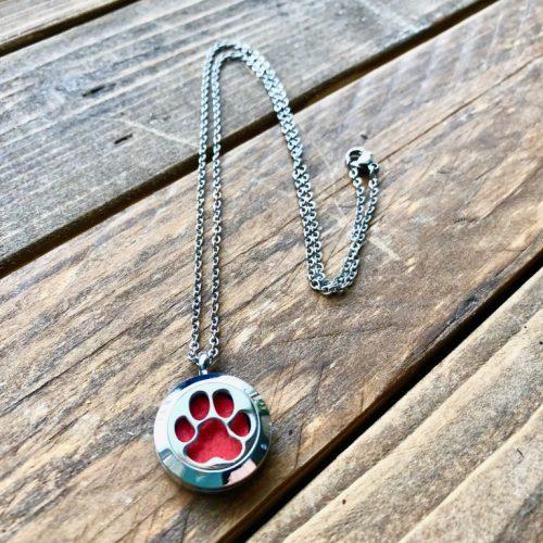 Locket Dog Paw Necklace