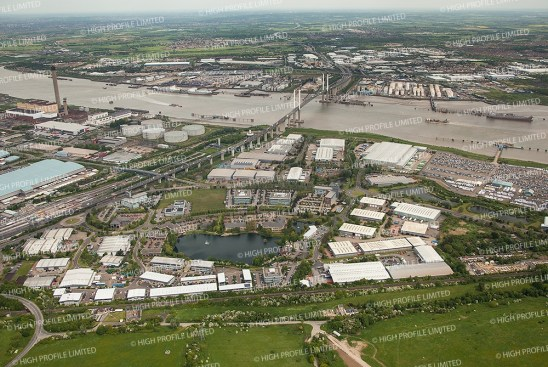 Aerial photographs of Crossways Business Park