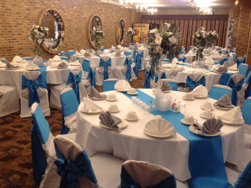 decorative chair covers wedding sams club office chairs picture gallery decorated interior for receptions elegant facility your event decoration banquet hall events sweet 16