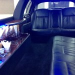 2011 all black towncar interior bar