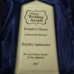photo of award - Ottawa wedding awards - People's Choice Limousine Service - Royalty Limousine