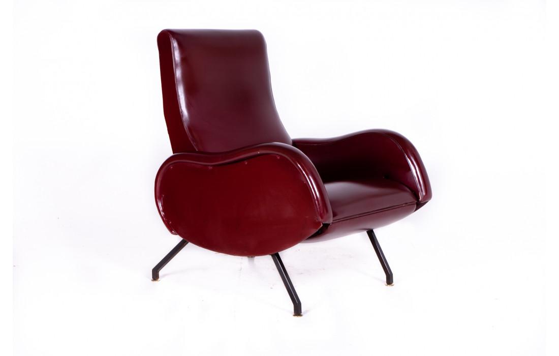 Sedute di design scandinavo originali anni 50/60. Poltrona Reclinabile Anni 60 Design Marco Zanuso