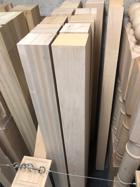 Staircase Parts Accessories The Royal Wood Shop | Modern Newel Post Designs | Contemporary | Maple | Staircase Spindle | Modern Box | Hollow