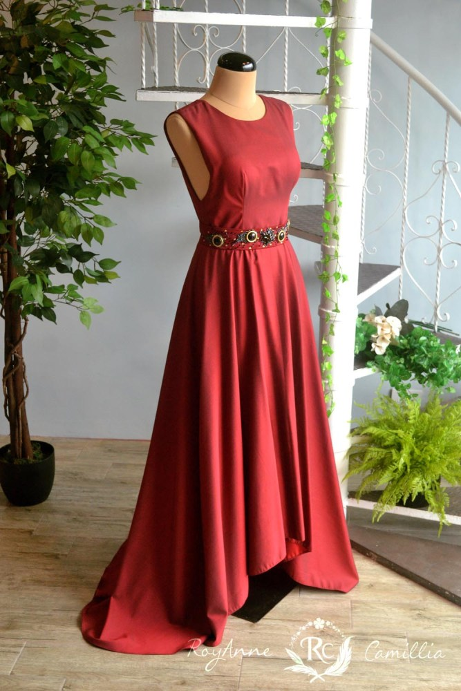 Cerys (maroon) - RoyAnne Camillia Couture- Bridal Gowns and Gown ...