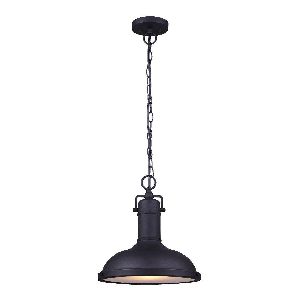 30058 luminaire suspendu industriel noir