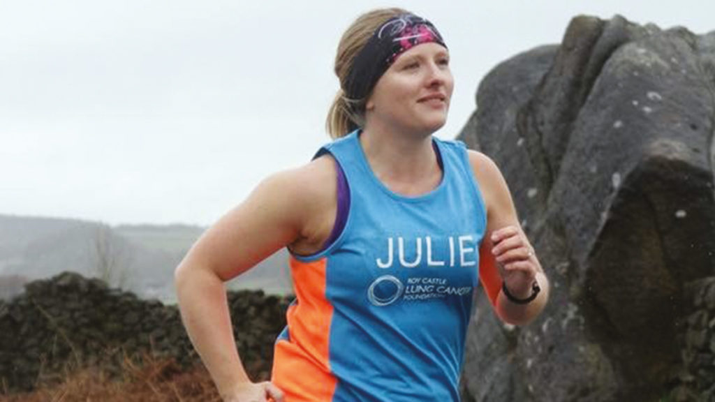 Julie started running after losing Liz and soon got the running bug