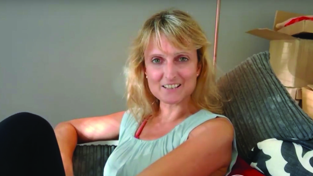 Nicola is living with lung cancer