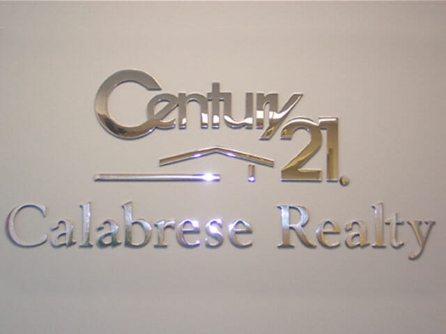 Wall Mounted Letters for Century 21 Calabrese Realty