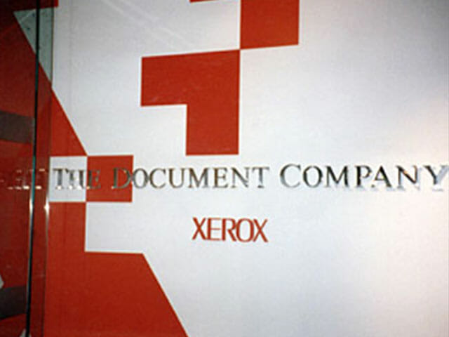 Wall Mounted Letters for Xerox