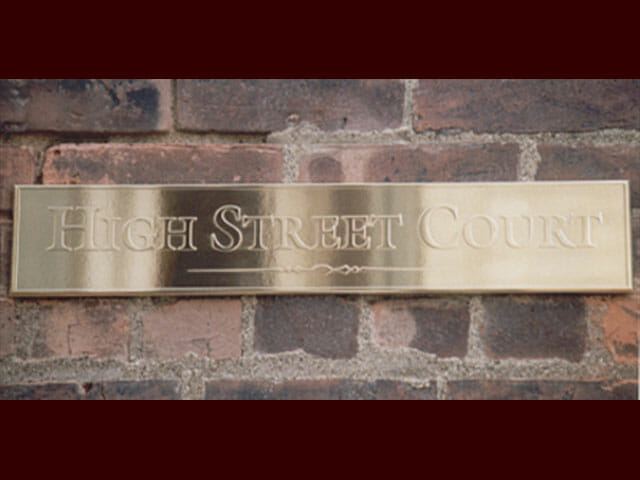Plaque for High Street Court