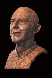 bronzen portret Professor