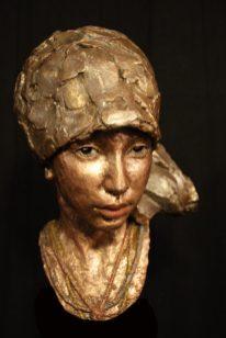 portret-kopje brons
