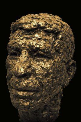 portret Kop brons