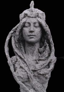 Jugendstil beeld van vrouw