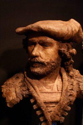 portret Rembrandt brons - Roy Greve