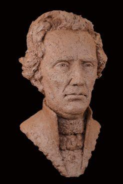 portret Thorbecke keramiek