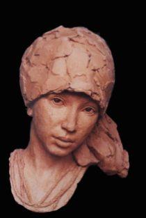 portret meisje met hoofddoek