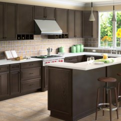 Coffee Color Kitchen Cabinets Counter Height Island Be Brave To Apply Espresso With Granite
