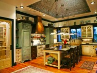country-kitchen-designs-ideas-with-large-rectangle-wood ...