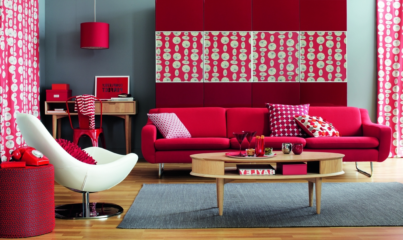 asian themed living room home decor grey walls red ideas to decorate modern sets ...