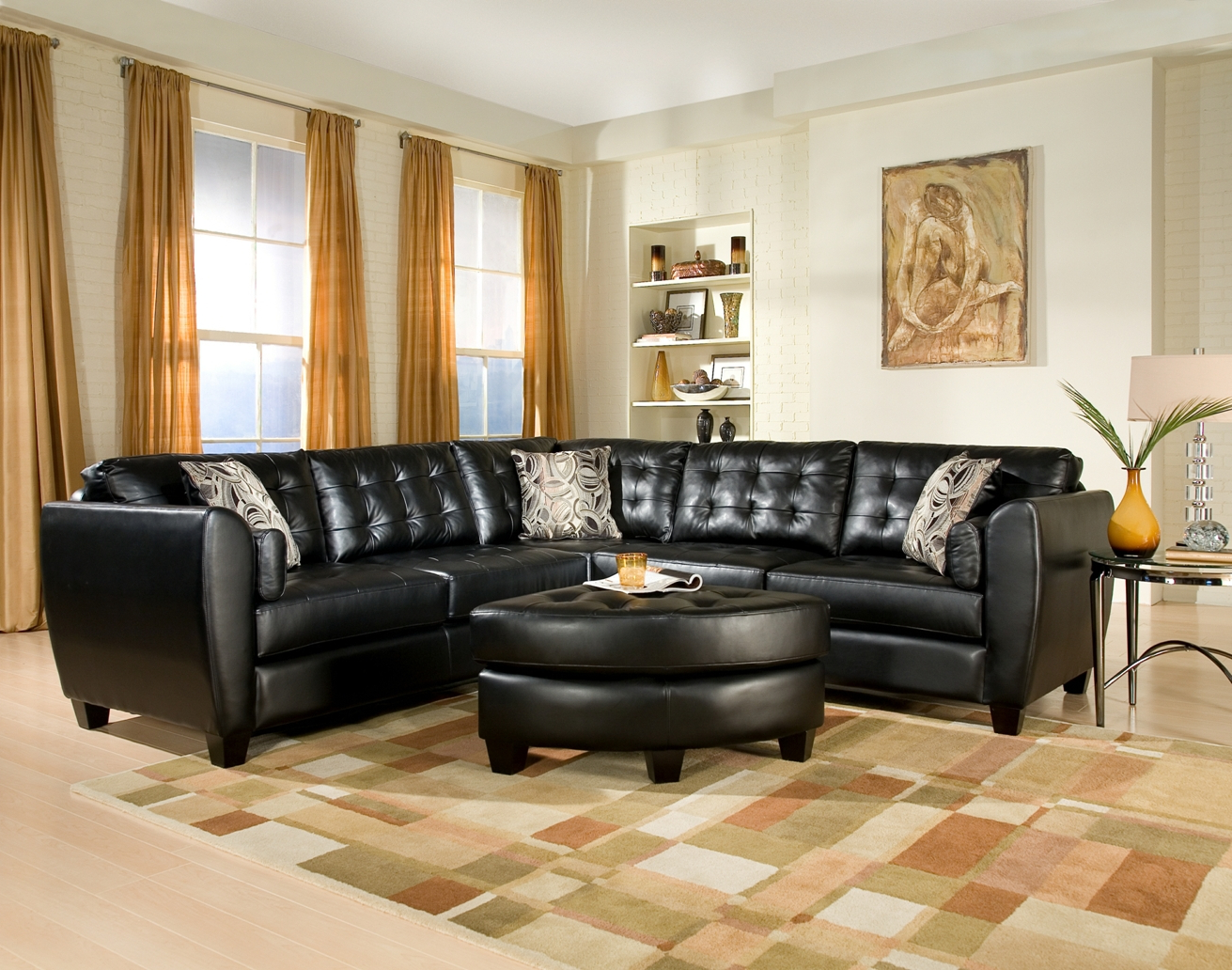 black sectional sofa room ideas amalfi living with sectionals for small