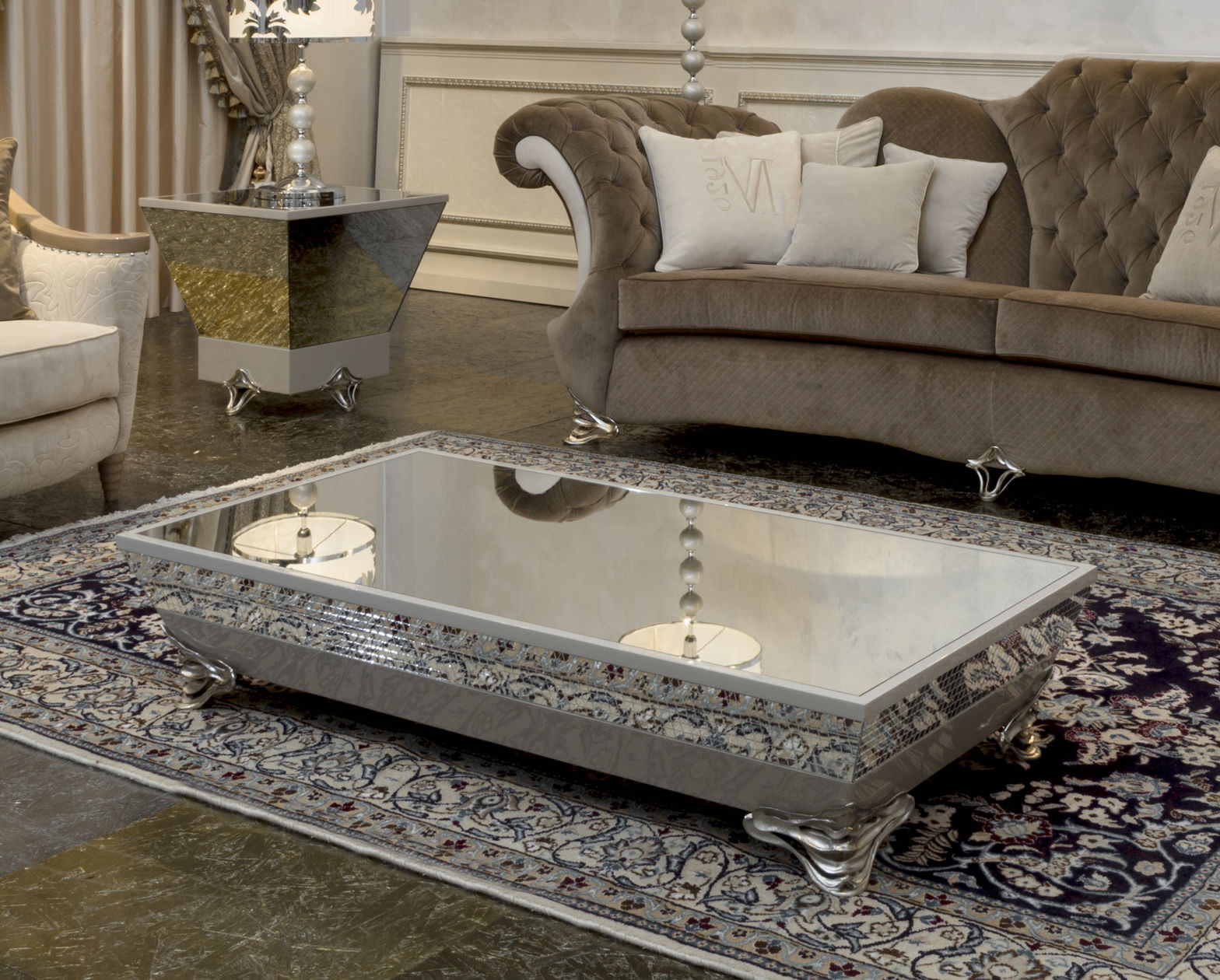 Cheap Mirrored Coffee Table Furniture