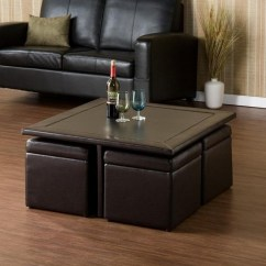 Large Leather Chair With Ottoman Card Table And Chairs Lowes Cushion Coffee Storage Furniture | Roy Home Design