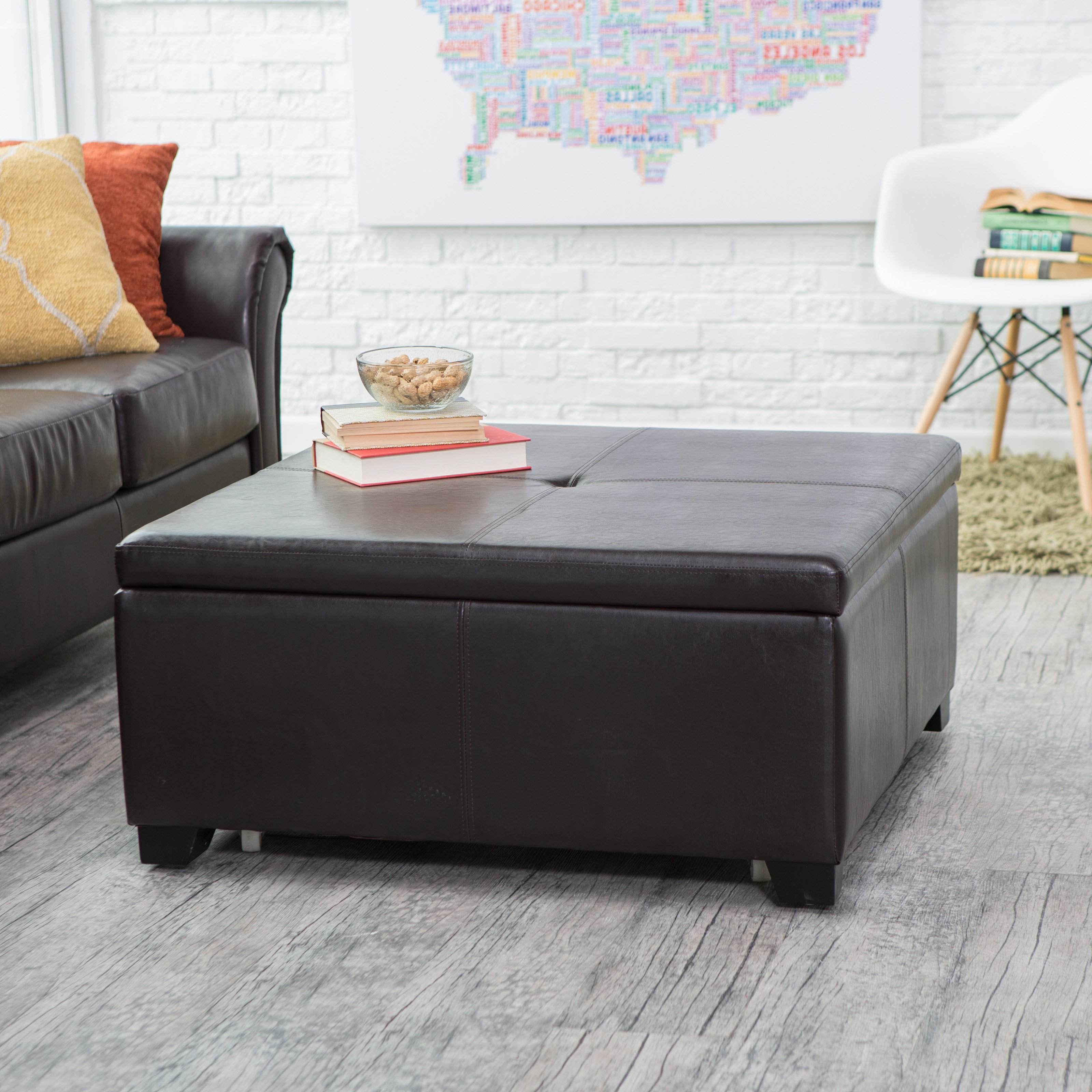 Gray Ottoman Coffee Table