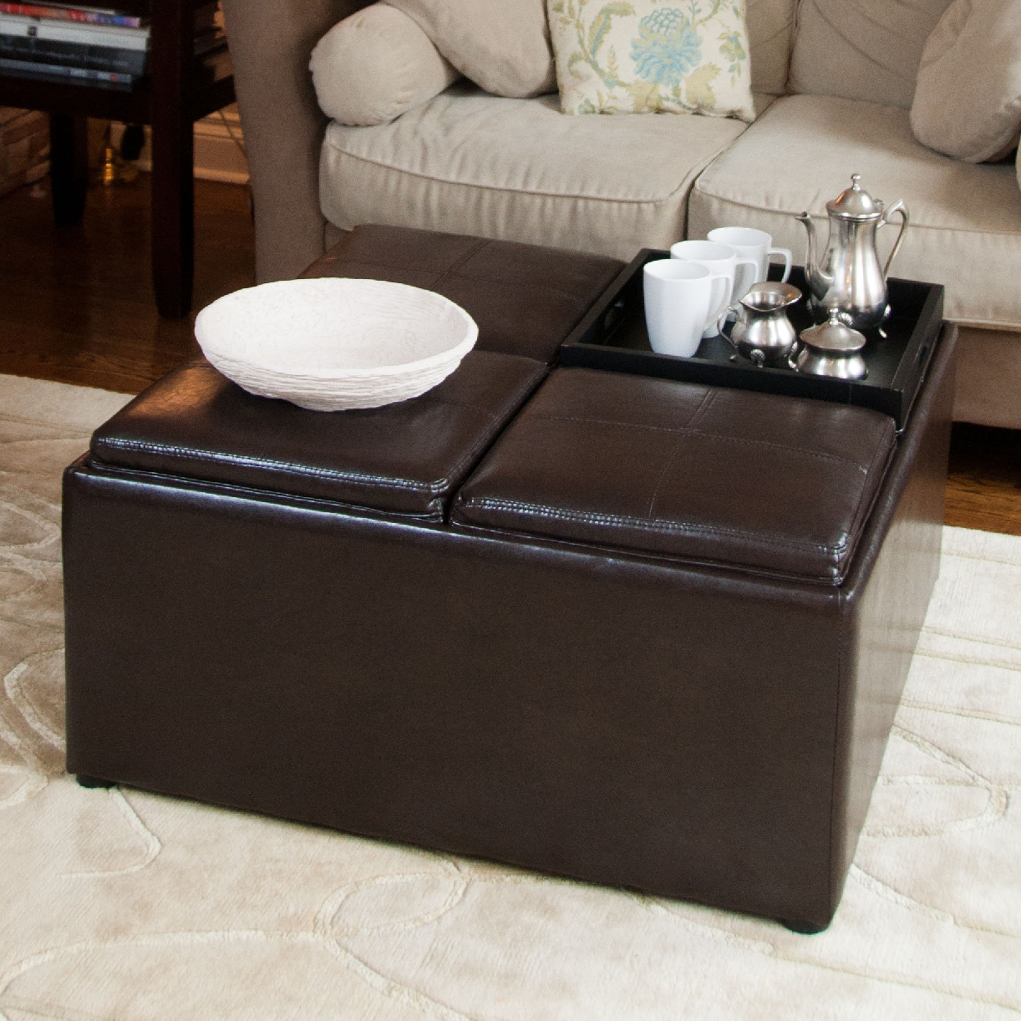Cloth Ottoman Coffee Table