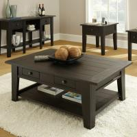 Dark Wood Coffee Table Set Furnitures | Roy Home Design