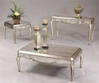 mirrored coffee table set 10   Roy Home Design