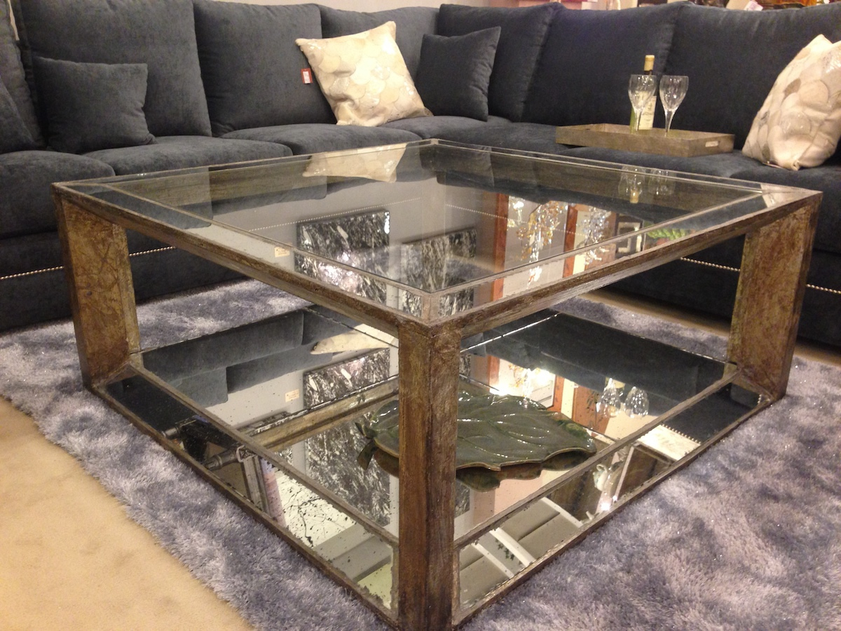 ottoman coffee tables living room paint colors for with cathedral ceilings mirrored table tray | roy home design