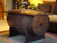 Wooden Barrel Coffee Table Furniture | Roy Home Design