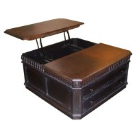 Double Lift Top Coffee Table in Regal Walnut | Roy Home Design