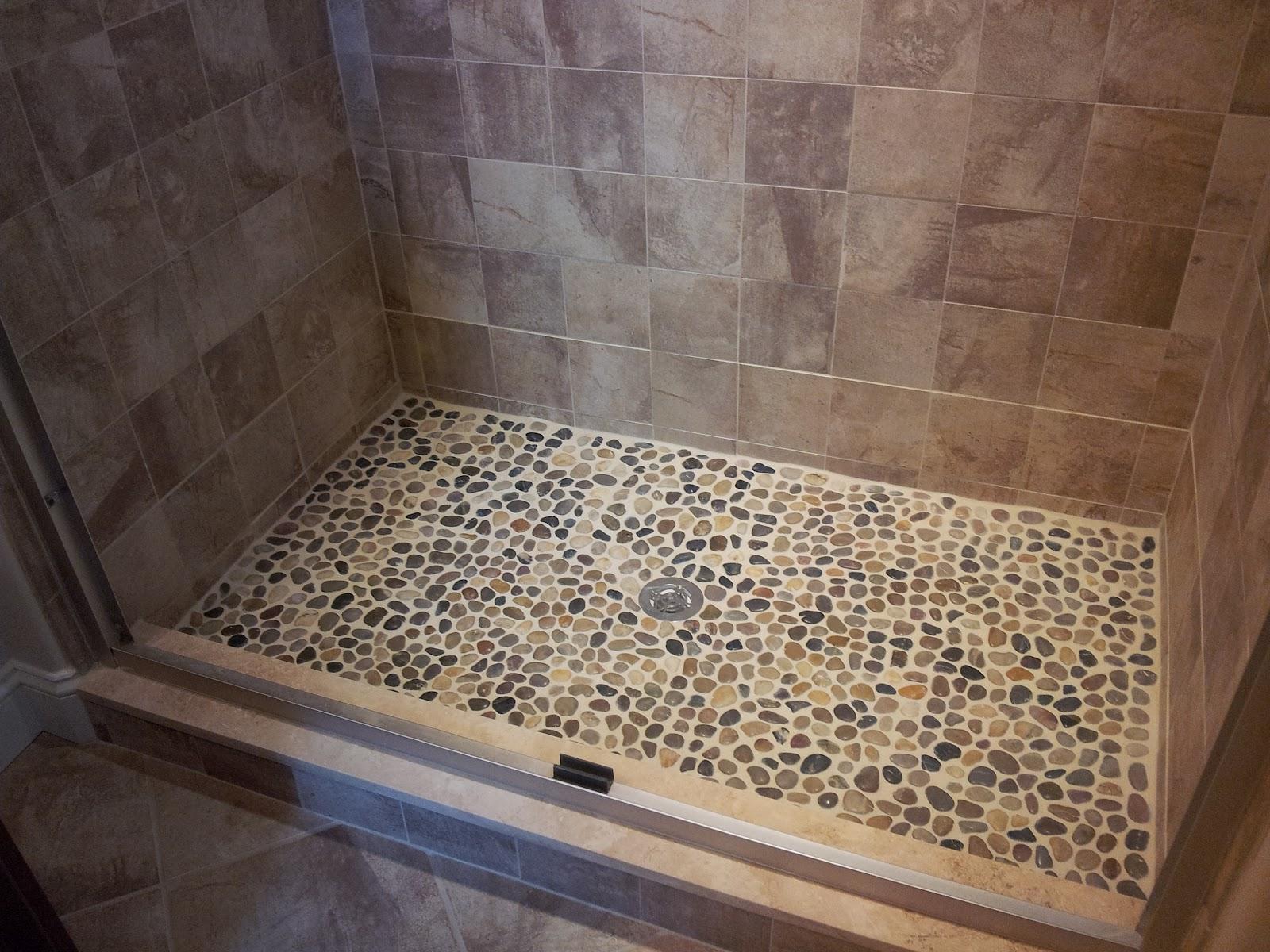 Riverstone Shower Floor In Mid Century Style Roy Home Design