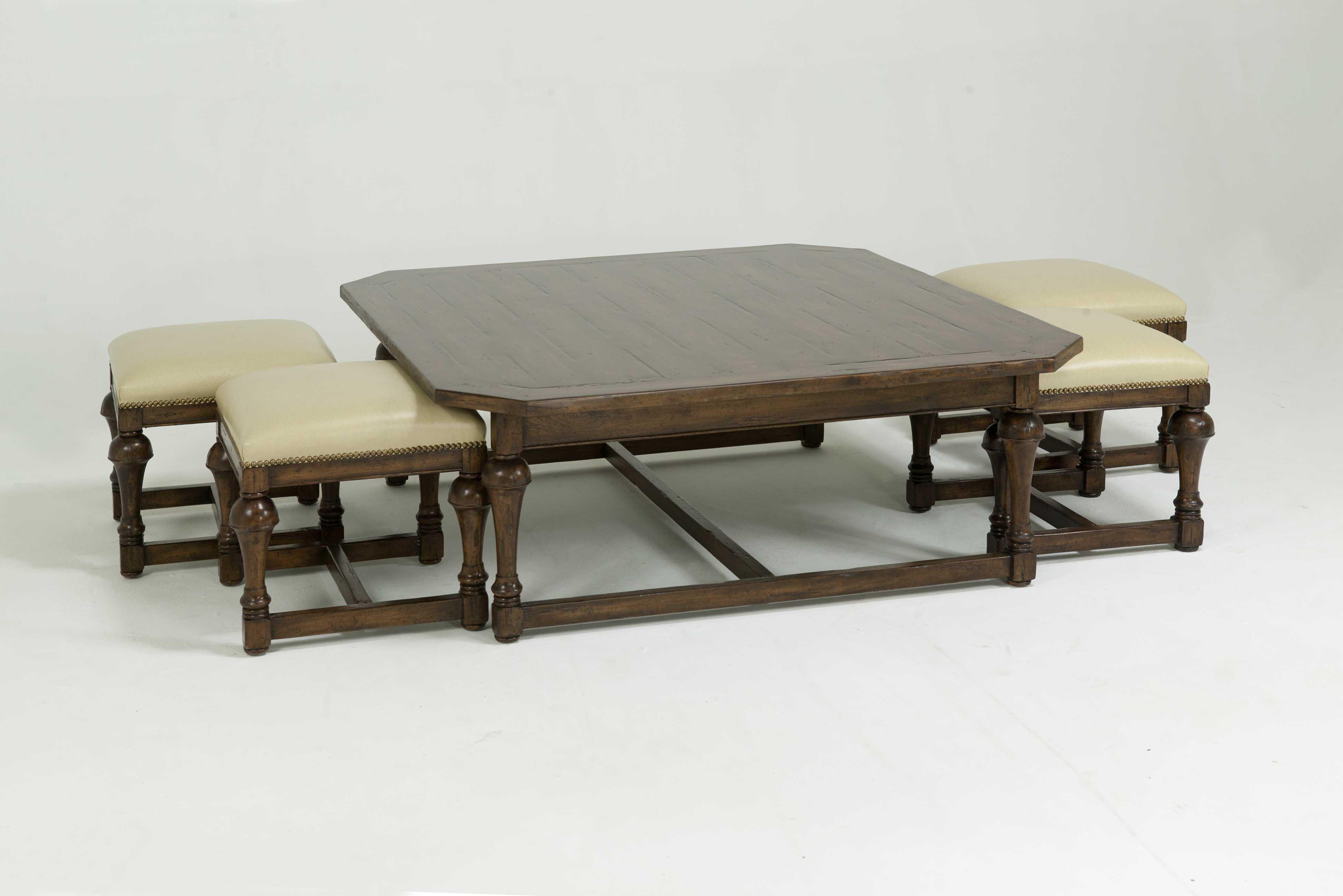 Padded Ottoman Coffee Table