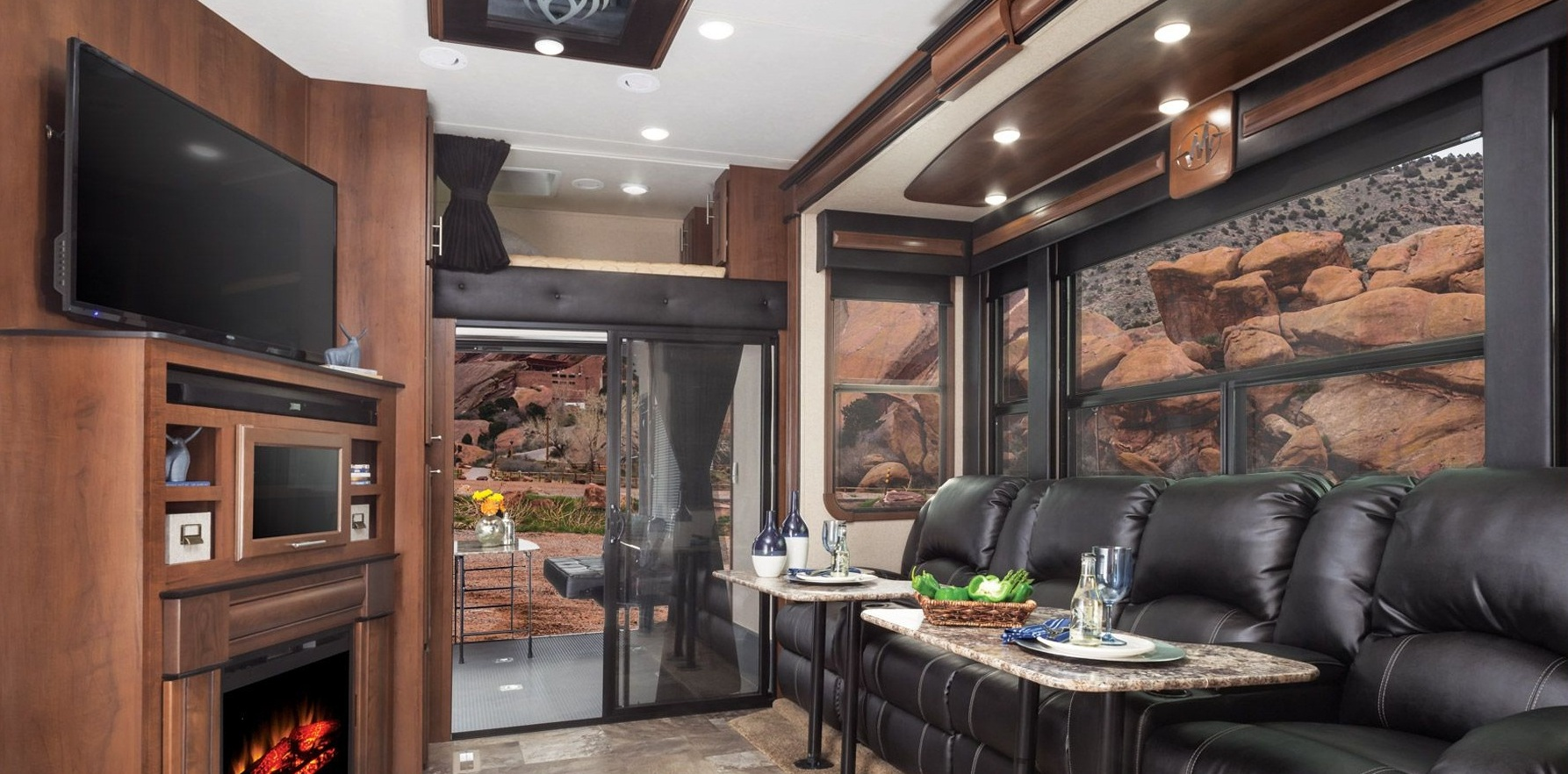 fifth wheel with front living room blue and brown decorating ideas campers rooms   roy home design