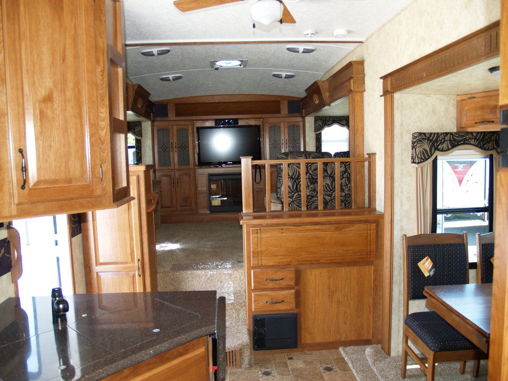 microwave kitchen cabinet striped rug fifth wheel campers with front living rooms | roy home design