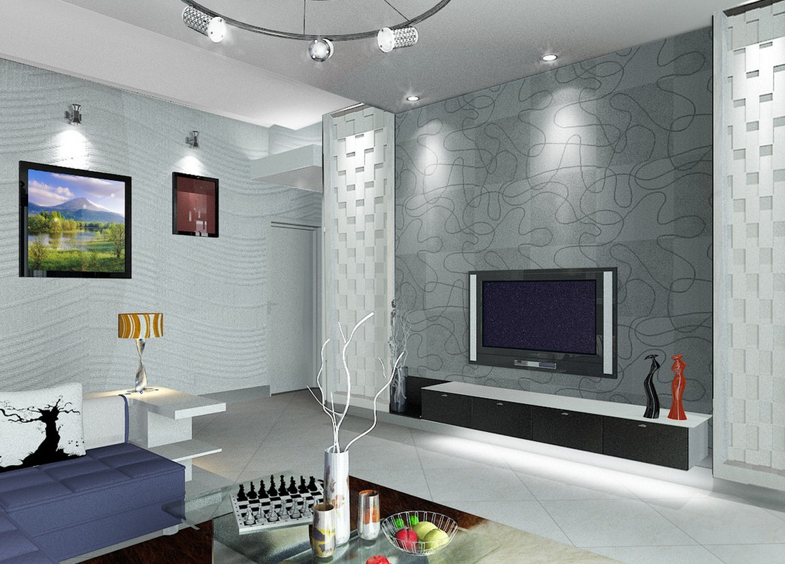 TV Wall Decoration for Living Room  Roy Home Design