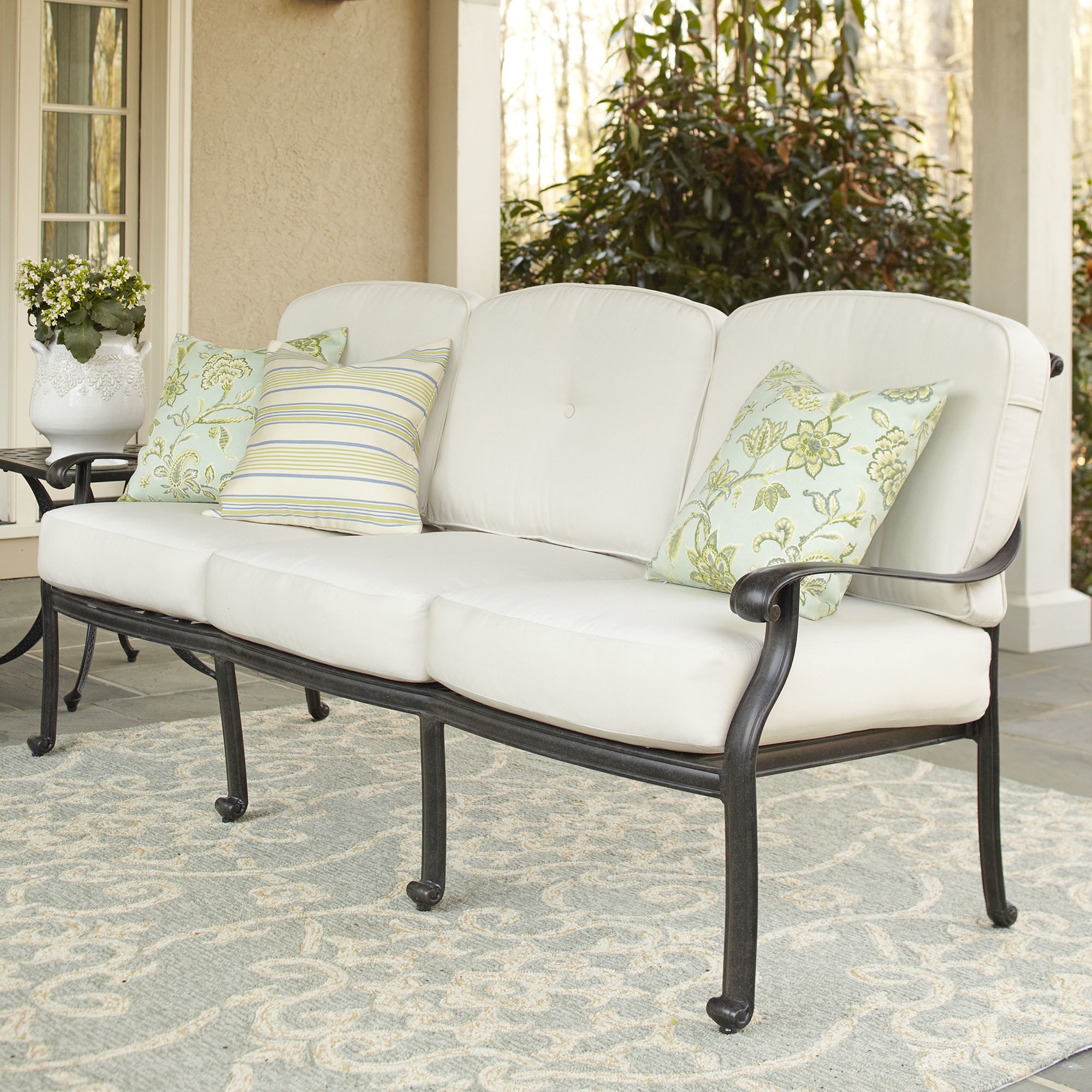 outdoor cushions for chairs kitchen table and set white deep seating replacement furniture