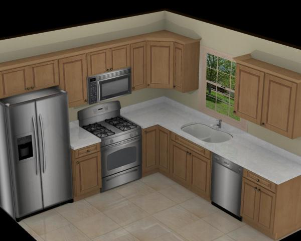 14 X 11 L-shaped Kitchen Design Pictures