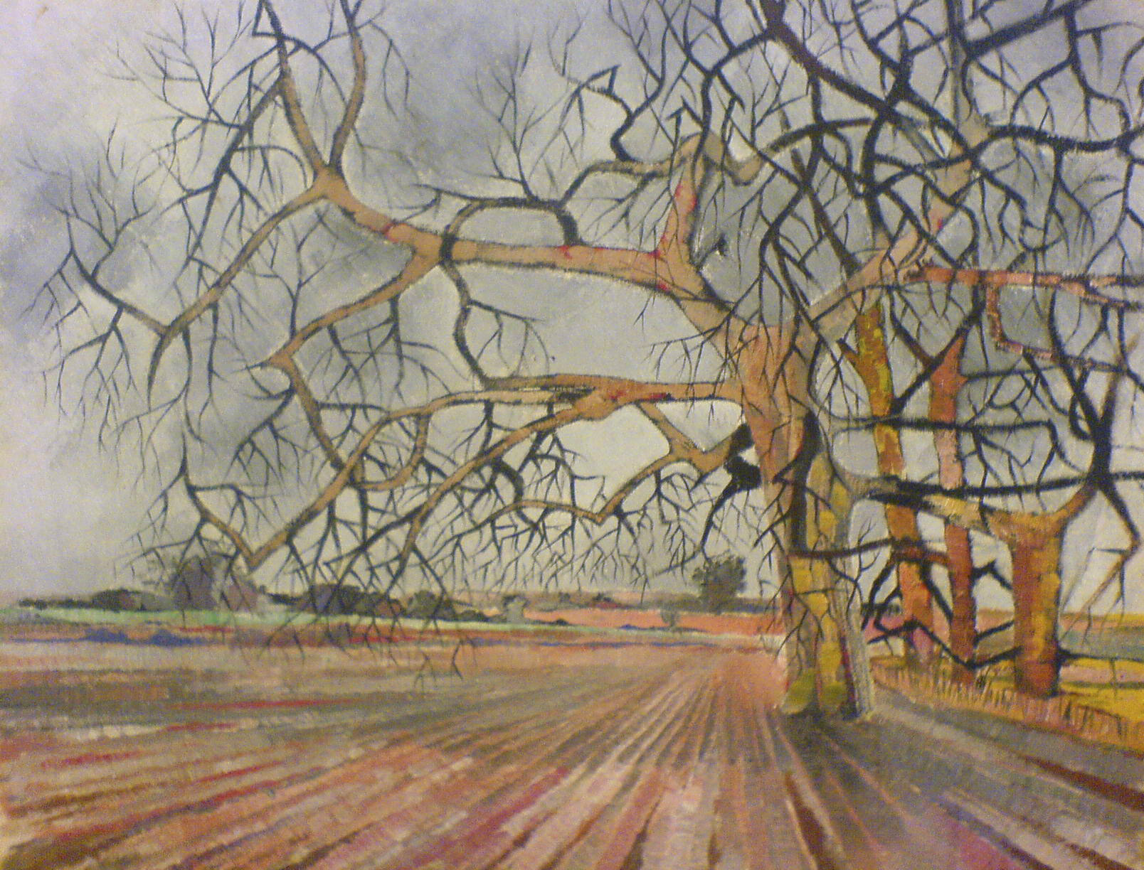 Field in oils painting 1952