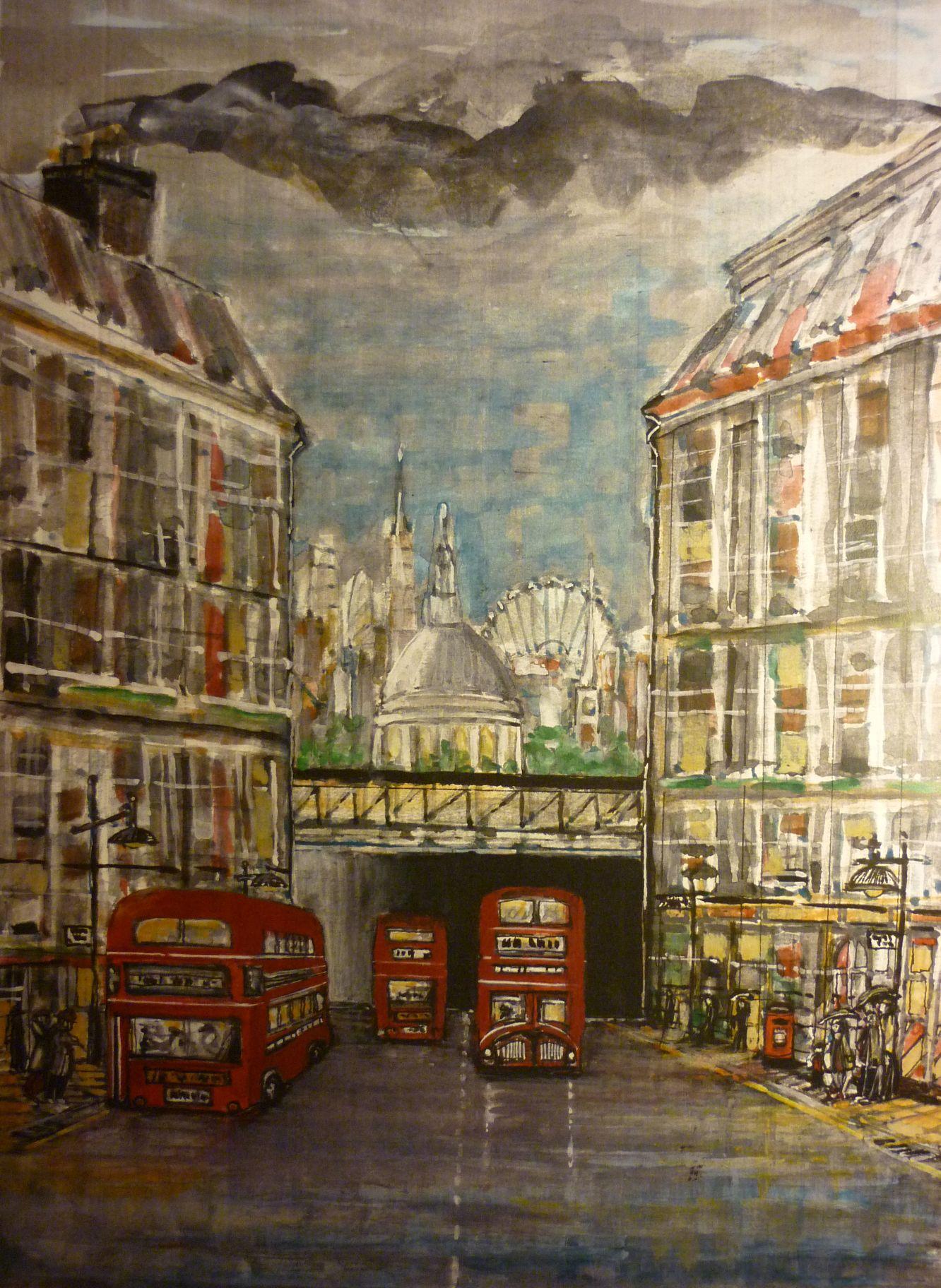 london, city, fleet street, routemaster, bus,
